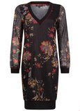 TRAMONTANA DRESS V-NECK CHINESE FLOWER C07-92-501 _6