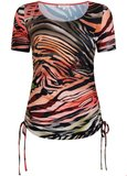 TRAMONTANA T-SHIRT GATHERED FLAMED ANIMAL D10-95-401_5