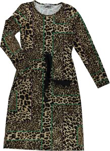 GEISHA FASHION JERSEY DRESS ANIMAL PRINT 97790-20