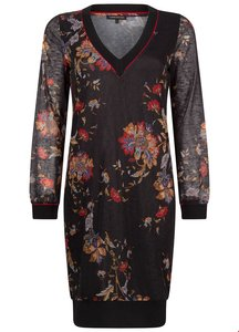 TRAMONTANA DRESS V-NECK CHINESE FLOWER C07-92-501