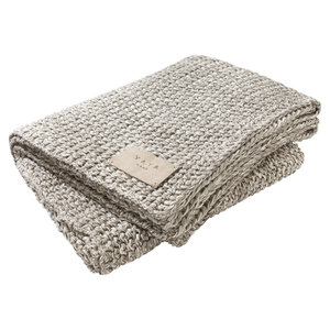 YAYA HOME CHUNKY KNITTED PLAID H100003 DG