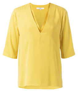 YAYA  DOUBLE V-NECK TOP WITH SHORT SLEEVES 1901110-913