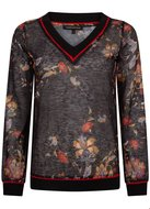 TRAMONTANA-TOP-V-NECK-CHINESE-FLOWER-PRINT-BLACKS-C07-92-401