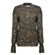 GEISHA-TOP-LEAVES&FLOWERS-SMOCK-NECK&CUFFS-03681-20
