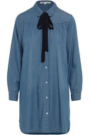 TRAMONTANA-BLOUSE-LONG-CHAMBRAY-BOWTIE-Q06-86-502