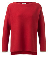 YAYA--BASIC-KNITTED-BOATNECK-SWEATER-WITH-CONTRASTING-CUFFS-100030-823N-PR